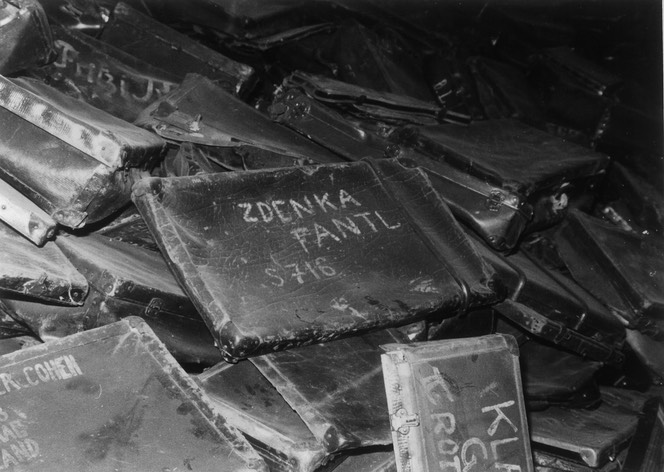 Zdenka's suitcase at Auschwitz